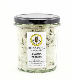 miodowa mydlarnia sól do kąpieli zielona herbata
